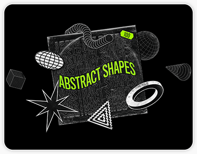Abstract Shapes: 100 design elements