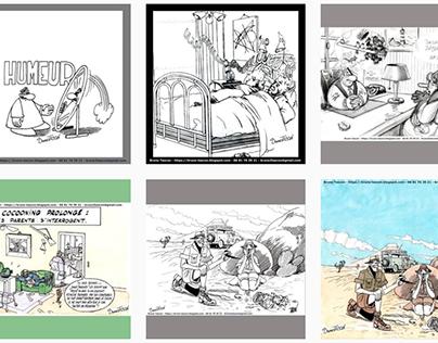 Dessins humour Bruno Tascon : dessinateur croquis pub