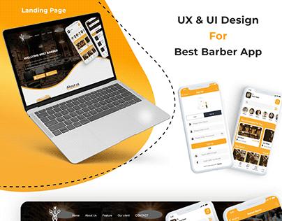 Landing Page Barber App