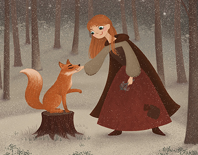 """Illustrations to the fairy tale """"Gerd and her friends"""""""