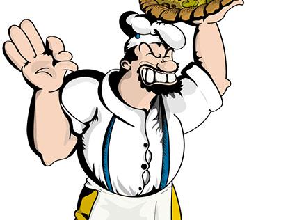 Brutus - Ilustração para Pizzaria