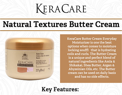 Key Feature of KeraCare Butter Cream