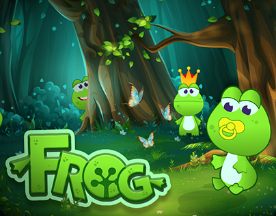 FROG FAMILY CHARACTER DESIGN