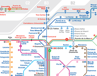 Madrid Unified Rail Network Map