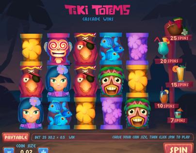 Tiki totems slot game design