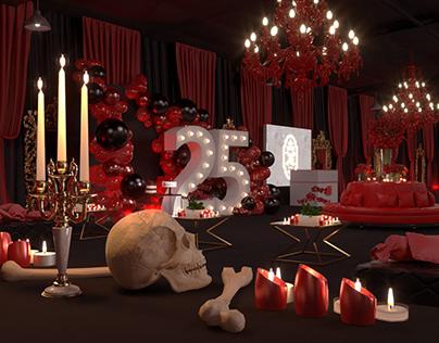 An Asylum Murder Mystery themed birthday Party