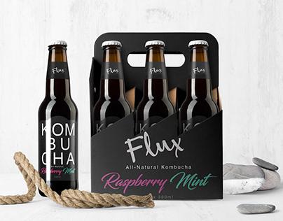 Flux Kombucha - Brand Identity & Package Design