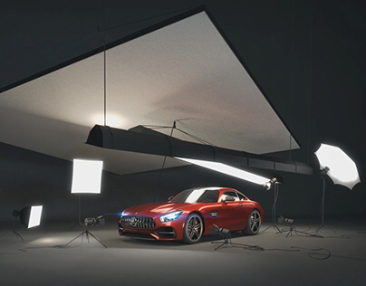 Studio Light Animation with an AMG GT