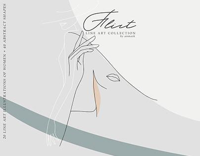 Flirt. Line Art Collection