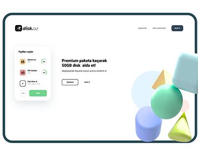 Disk.AZ File Transfer website ui design