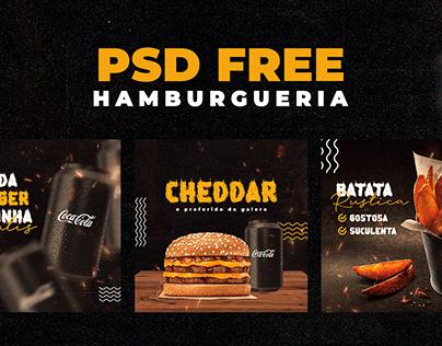 PSD FREE - 3 peças hamburgueria