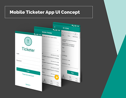 Mobile Ticketer App UI Concept