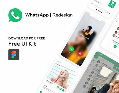WhatsApp Redesign - Free UI kit