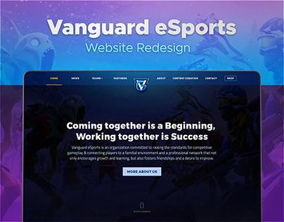 Vanguard eSports - Website Redesign