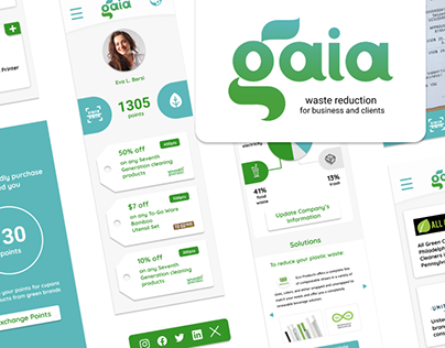 Gaia - Waste Reduction App UX Case Study