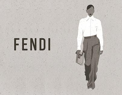 FENDI collection Fashion Illustration