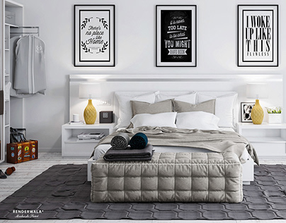 White Modern Bedroom Interior Design