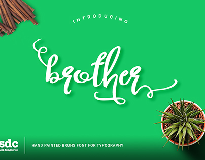 Brother Script[Free Font]