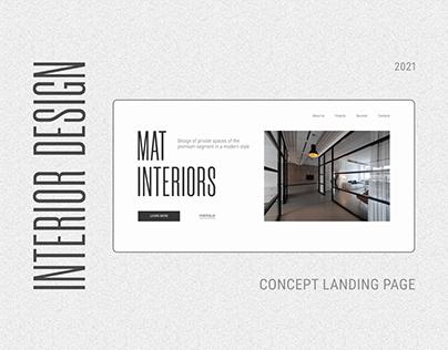 Interior design studio landing page concept