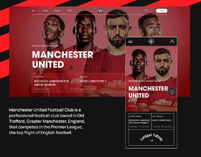 Manchester United - Website concept