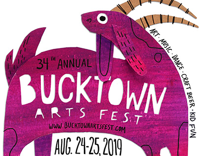 34th Annual Bucktown Arts Festival Poster