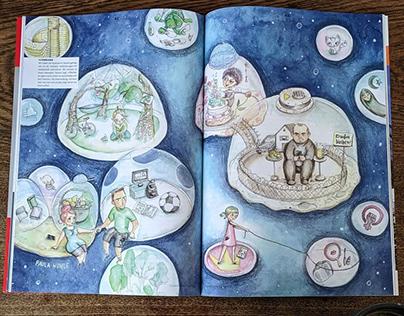 Editorial Illustration - Filter bubble and Algorithm