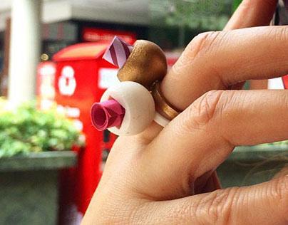 ·letter ring·