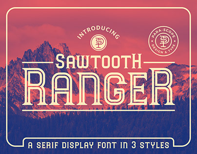 Sawtooth Ranger Serif Display Font Family