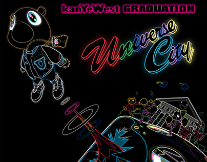 Neon Vector/Remastered Takashi Murakami Graduation Art