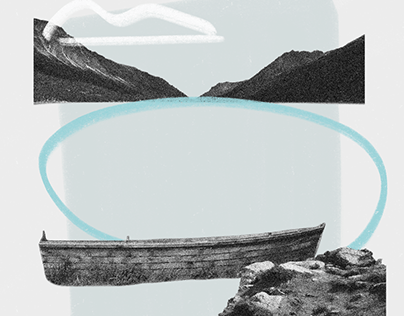 Chilkoot Trail Collage Illustrations