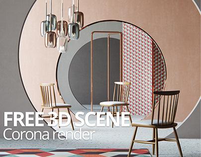 FREE 3D MODEL : Interior Scene