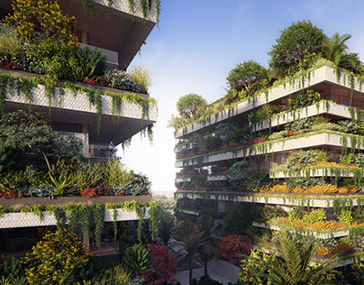 Three vertical forests in New Cairo
