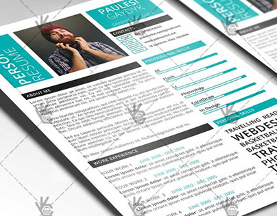 Blue Clean Resume – Free PSD Template