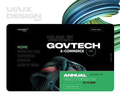 Media agency webpage | UX/UI design