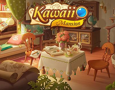 NOAH ROOM - KAWAII MANSION - BACKGROUND CONCEPT ART