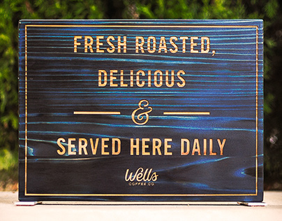 Wells Coffee Table Top Signs