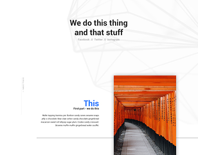 Minimal website