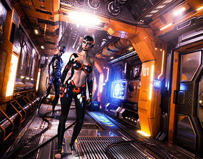 Almost Human Beyond Humanity 3D Rendering