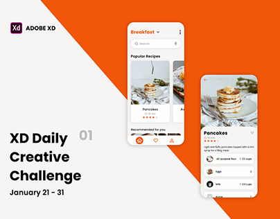Adobe XD Daily Creative Challenge Day 1