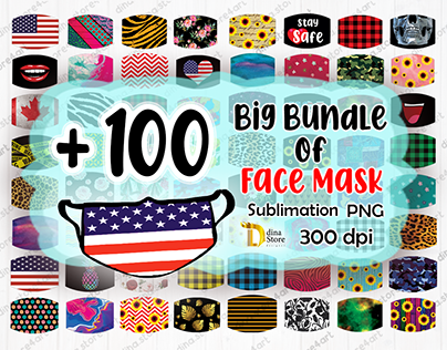 Facemask Designs for sublimation