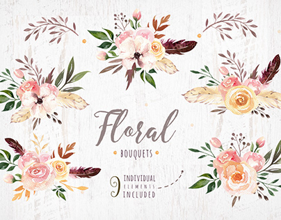 9 bouquets, png! Free download