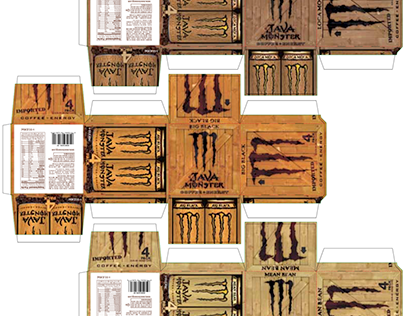 Java Monster Product Packaging