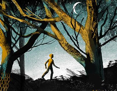 """Gone to the woods"" Gary James Paulsen. MACMILLAN"