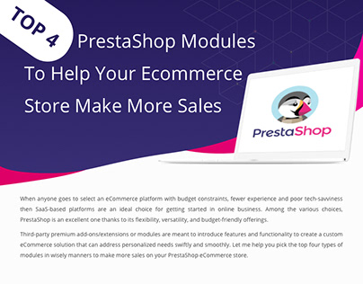 Top 4 PrestaShop Modules to Help Your Ecommerce Store M