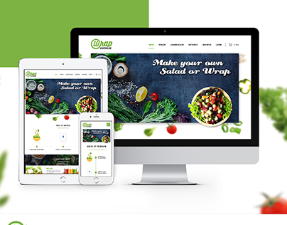 Online Salad and Food Wrap Ordering Website Design