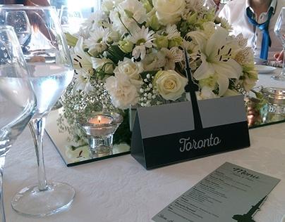 Wedding Decoration - Table Markers & Menus