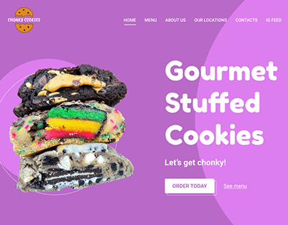 Landing page for cookies