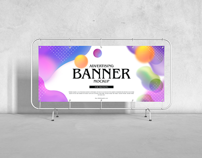 Free Advertising Banner Mockup For Branding