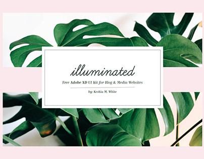 Free Blog & Media Website UI Kit for Adobe XD