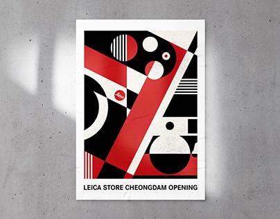 Leica Store Opening Graphic Design
